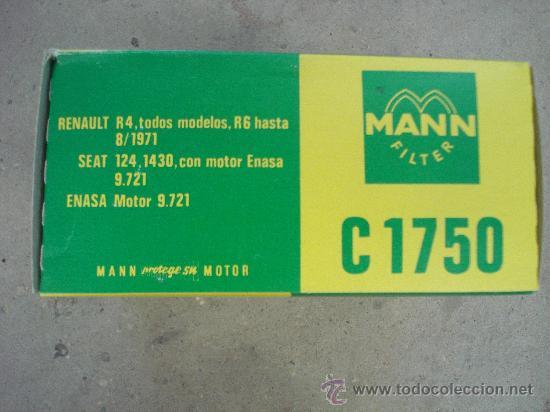 Filtro aire mann c1750 para renault 4 y 6. - Vendido en Venta ...