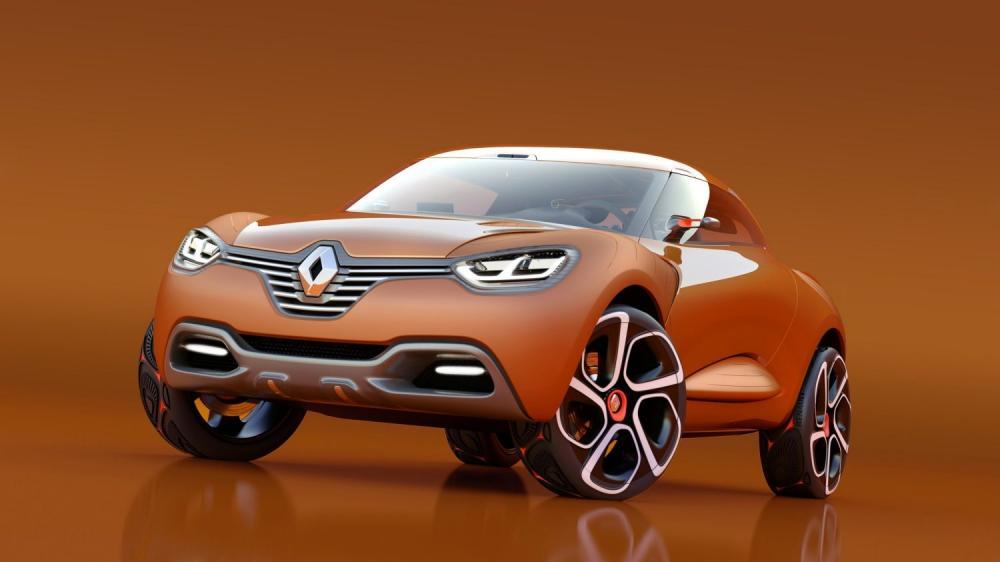Renault CAPTUR Concept - vue 3/4 avant gauche du véhicule