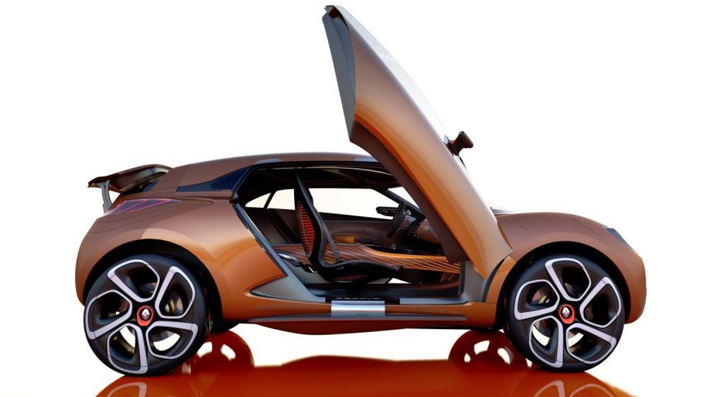 Renault CAPTUR Concept - Vue de profil - portières relevées