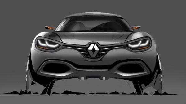 Renault CAPTUR Concept - croquis du véhicule - vue de face