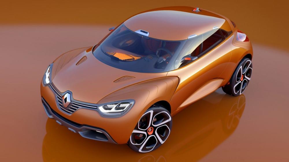Renault CAPTUR Concept - vue du véhicule par dessus