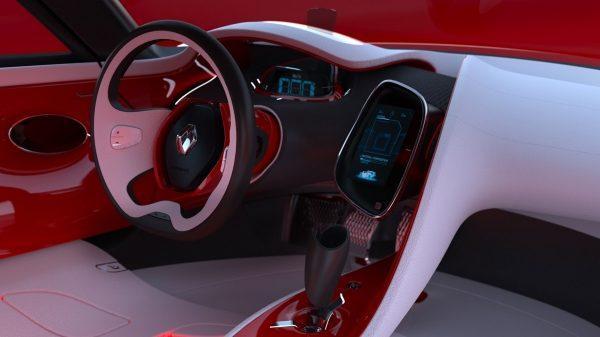 Renault DEZIR concept - zoom sur la planche de bord