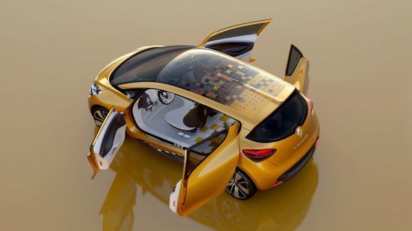 Renault R-SPACE Concept - vue du dessus - portières ouvertes