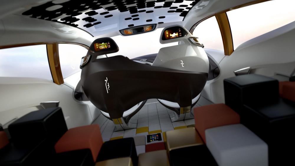 Renault R-SPACE Concept - intérieur vu de la planche arrière