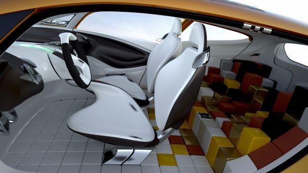 Renault R-SPACE Concept - habitacles avant et arrière