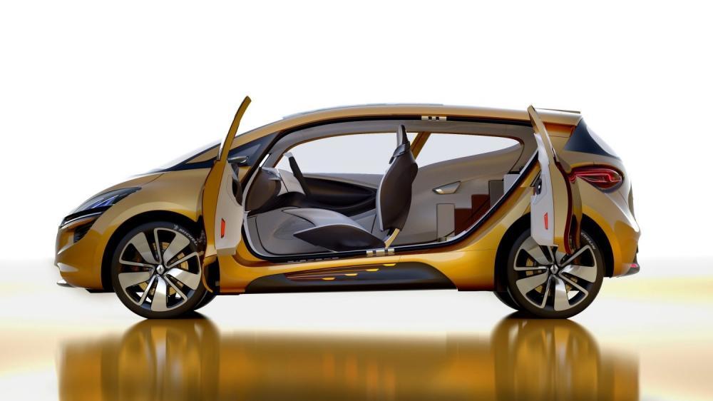 Renault R-SPACE Concept - vue de profil - portières ouvertes