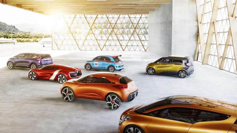 Renault - gamme concept-cars - vue 3/4 arrière
