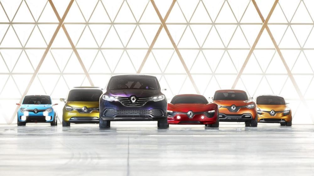 Renault - gamme concept-cars - vue de face