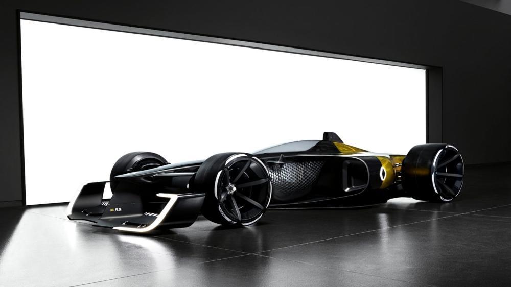 Renault Concept-car - R.S. 2027 Vision Concept dans un garage