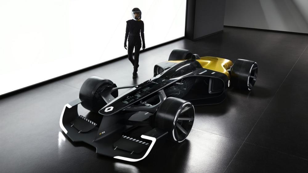 Renault Concept-car - femme pilote derrière R.S. 2027 Vision Concept