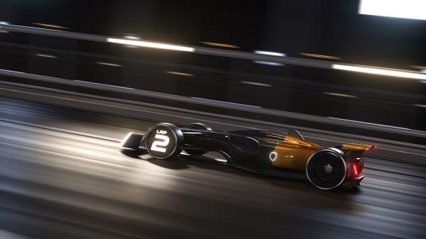 Renault Concept-car - R.S. 2027 Vision Concept avec affichage du nombre de tour sur roue