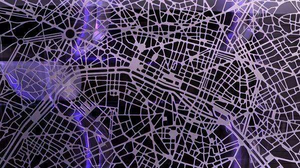 Renault INITIALE PARIS Concept - Zoom sur le toit - plan de Paris