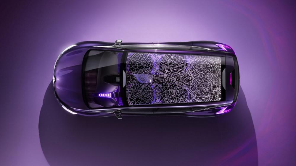 Renault Initiale Paris Concept - vue du véhicule de haut