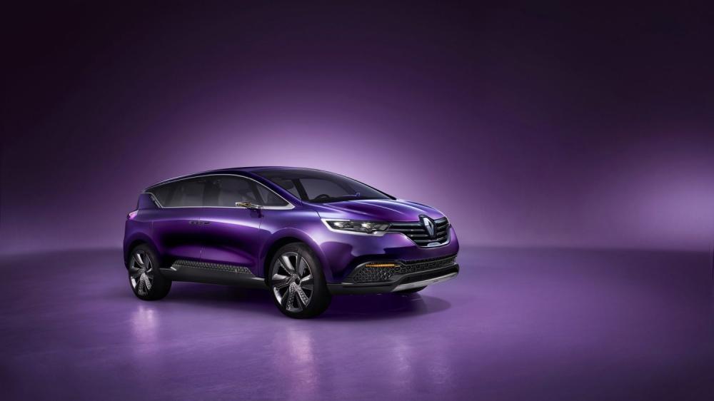 Renault INITIALE PARIS Concept - vue de 3/4 avant du véhicule