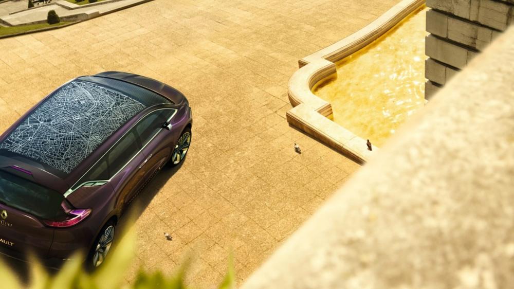 Renault INITIALE PARIS Concept - vue de haut du véhicule