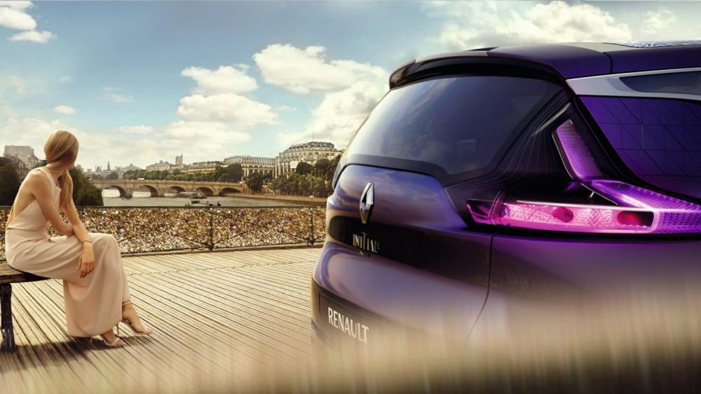 Renault INITIALE PARIS Concept - arrière du véhicule pont des arts