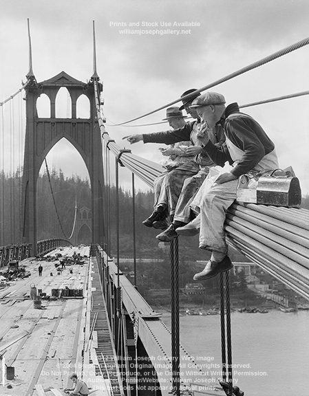 1931 St Johns Bridge ( N. Portland Oregon ).png