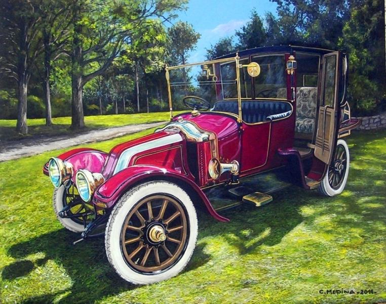 bonitas pinturas de carros antiguos.JPG